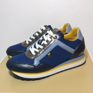 Michael Kors Blue Navy Maddy trainer sneakers 6